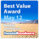 Hostelbookers Best Value Award May 2012